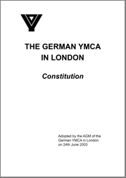 German YMCA in London Constitution